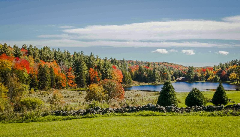 Situated between Boston and New York City, the Berkshires is a popular nature retreat during the fall months.