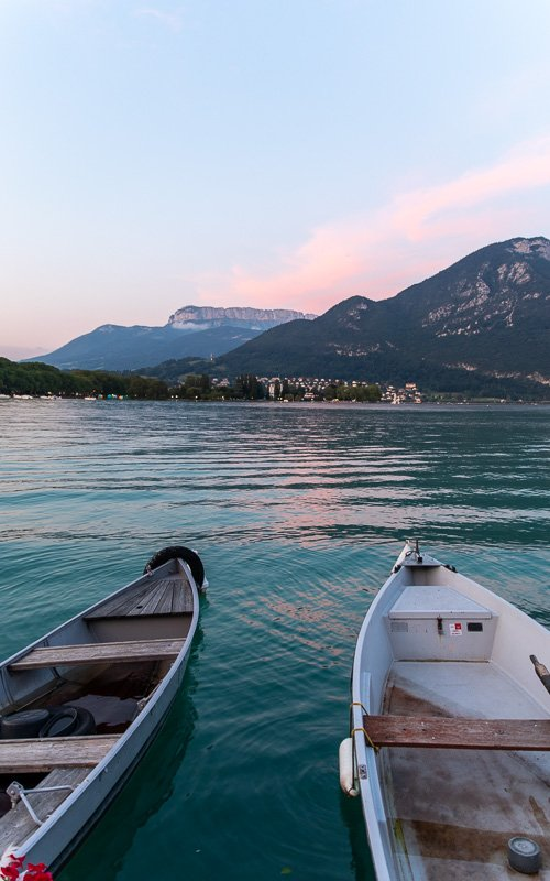 Lake Annecy is one of the most scenic lakes in the Alps.