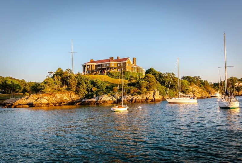 A waterfront mansion in Newport, Rhode Island is a great thing to see during a weekend in Newport.