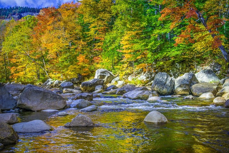This part of New Hampshire boasts some amazing fall foliage.