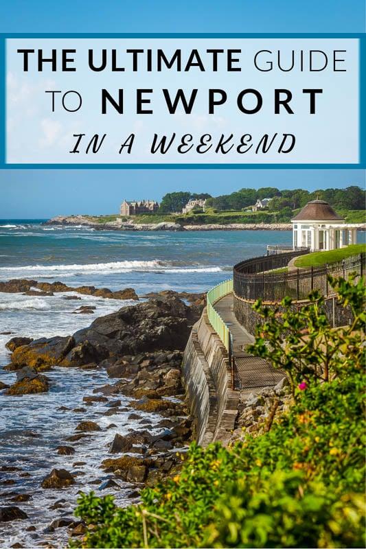 Weekend in Newport Guide Pinterest image.