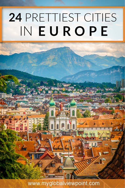 Most beautiful European cities pinterest image