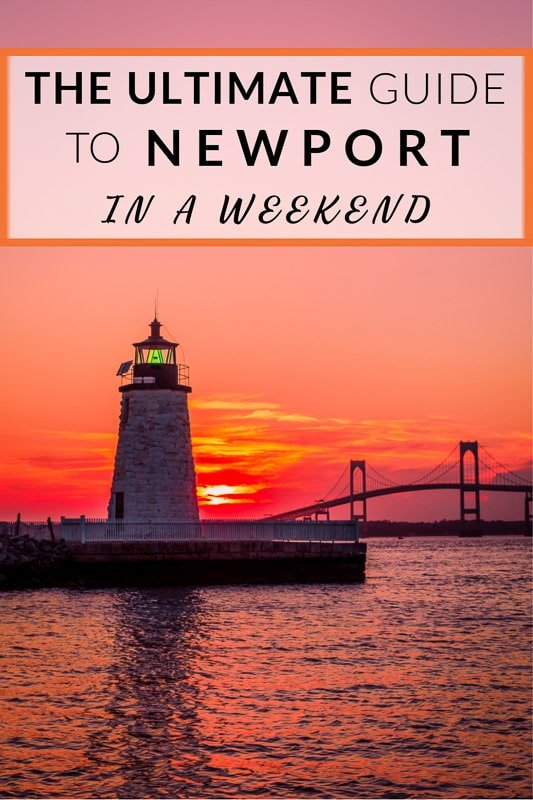 The ultimate guide to Newport, Rhode Island Pinterest image