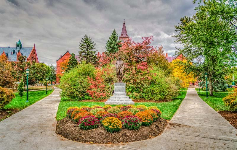 University of Vermont (UVM) campus in the fall.