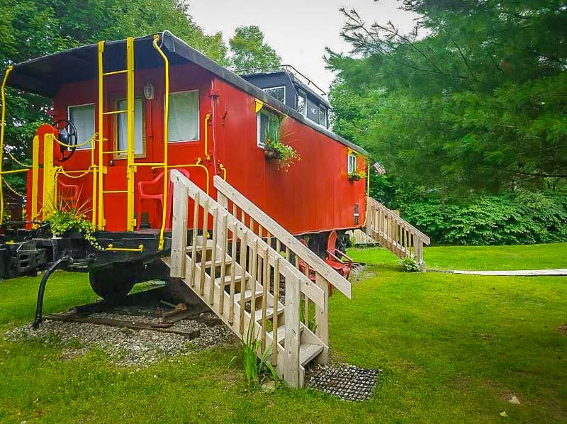 This train accommodation is easily among the most unique stays in New England