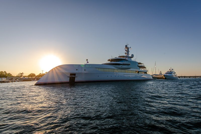 Yachts in Newport Harbor is a must-see during a weekend in Newport, Rhode Island.