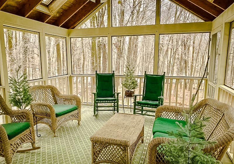 Beautiful interior designs and layout of a chalet in western Massachusetts.