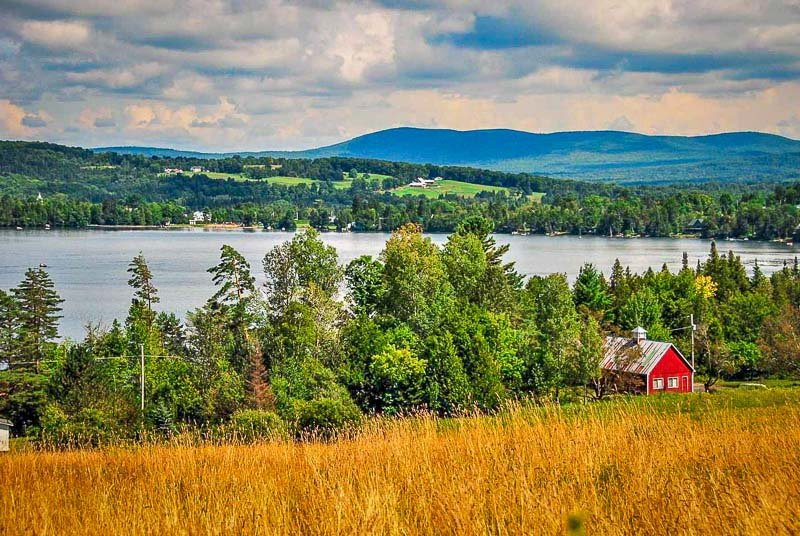 Greensboro, Vermont is a quiet and peaceful place to spend a vacation in New England.