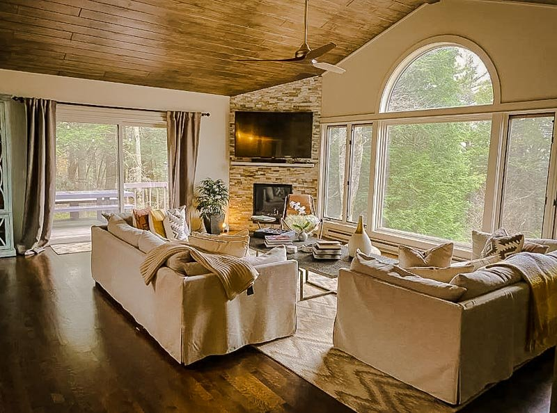 A mountaintop home in the Berkshires.