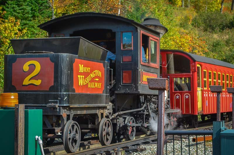 Fall in New England is well spent aboard the Mt. Washington Cog Railway.