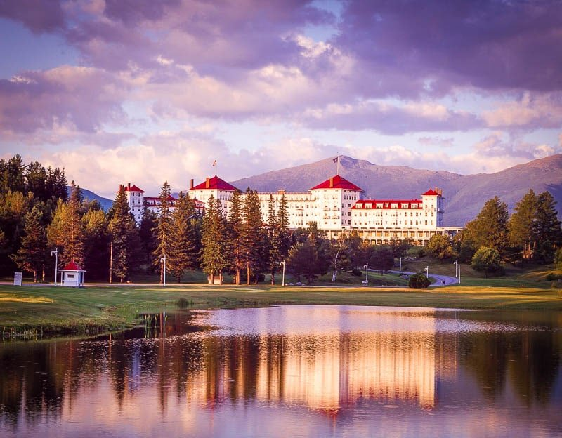 The Mt. Washington Resort in Bretton Woods.