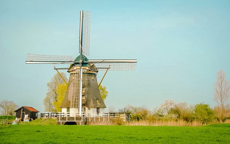 A windmill vacation rental in the Netherlands. It's one of the best vacation rentals in Europe