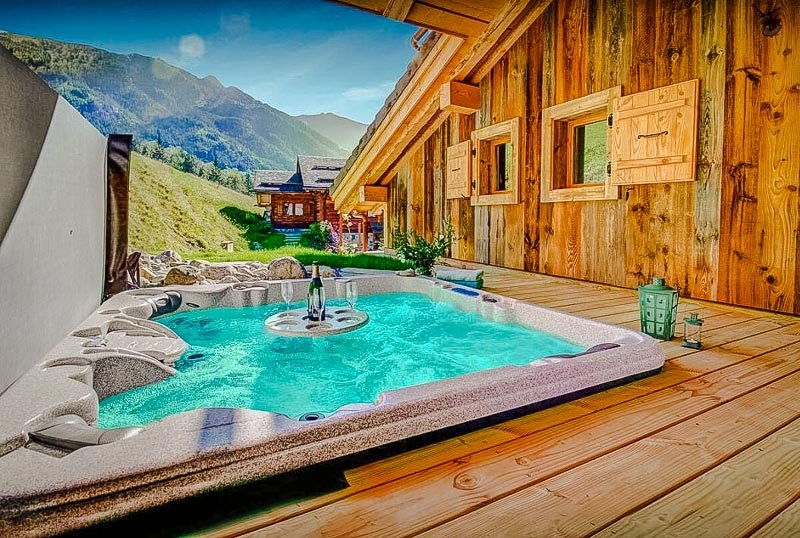 Idyllic luxury chalet in the French Alps.