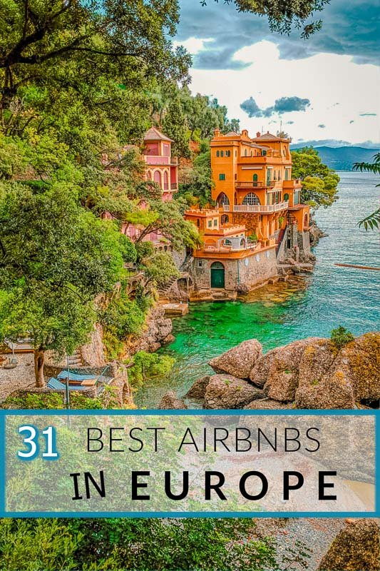 Best Airbnbs in Europe for large groups pinterest image