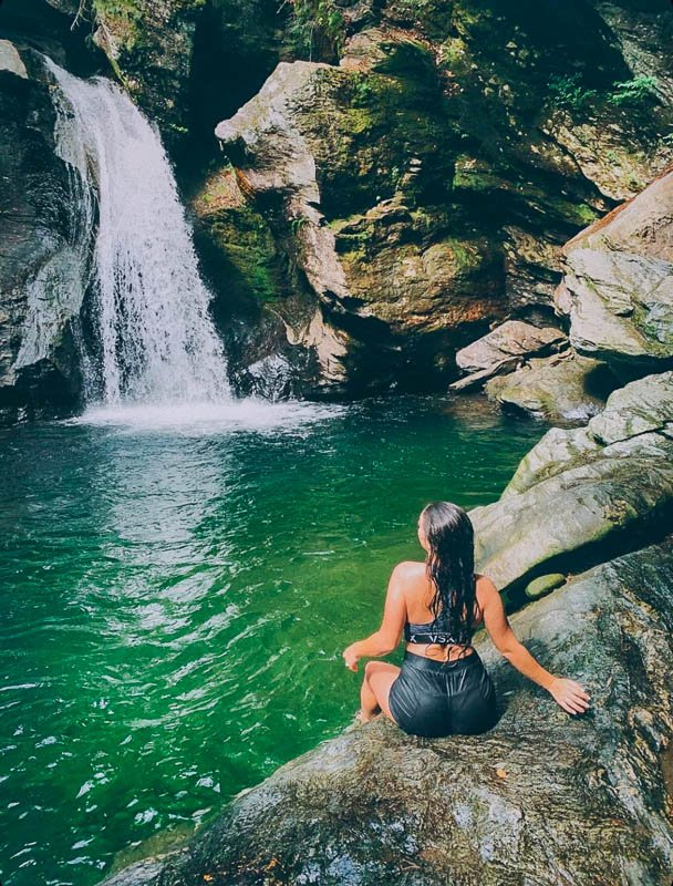 Bingham Falls in Vermont is one of the best hikes in New England.