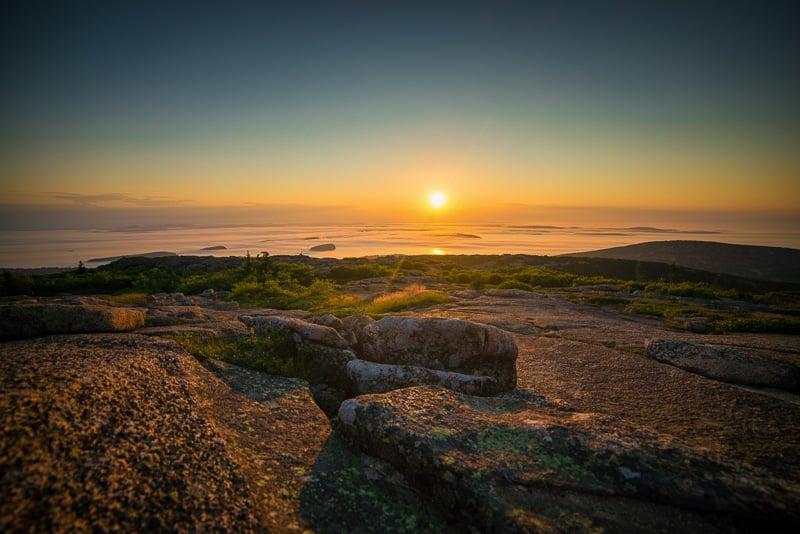 Sunrise from Cadillac Mountain - Acadia National Park, Maine