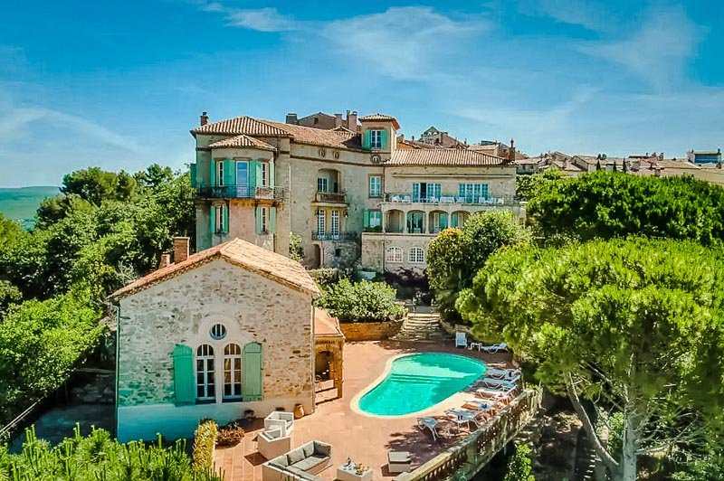 Chateau des Costes in France is one of the best vacation rentals in Europe.