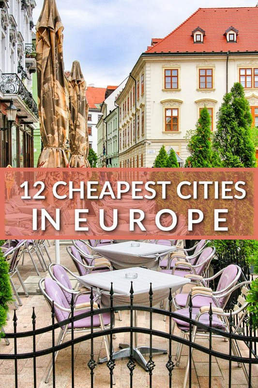 Cheapest cities in Europe pinterest image