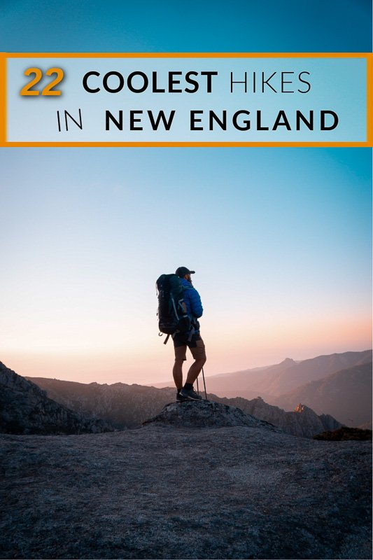 Best hikes in New England pinterest photo