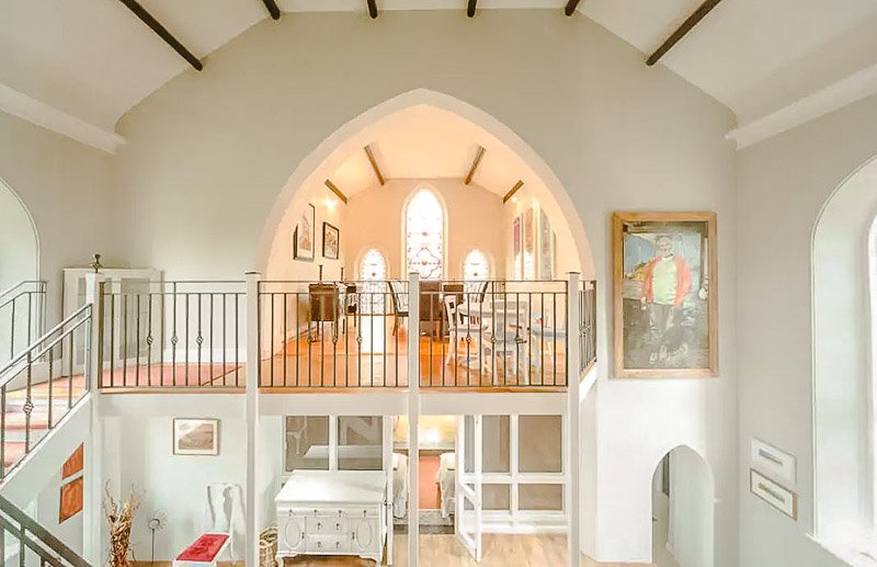 A gothic church vacation rental in England.