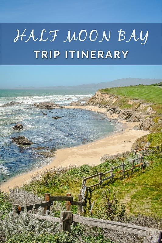 Half Moon Bay vacation pinterest image