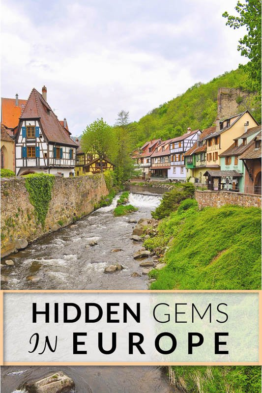 Hidden gems in Europe pinterest image