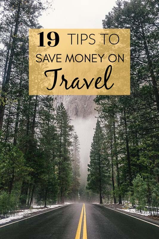 How to travel for cheap pinterest image