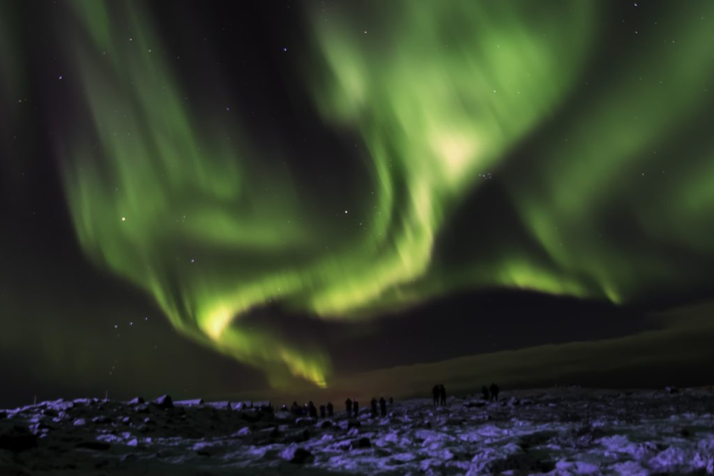 The Northern Lights makes for the perfect Instagram photo.