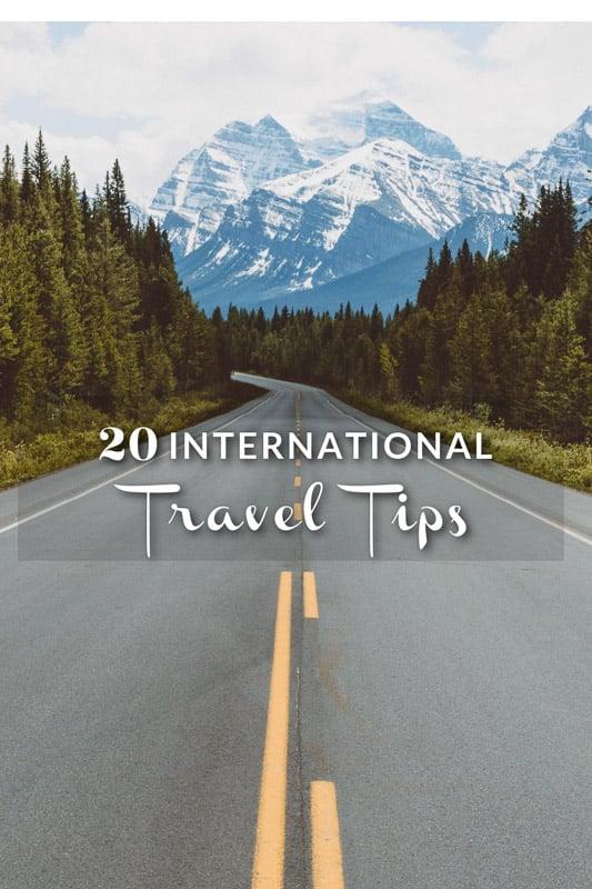 Tips on international travel pinterest image