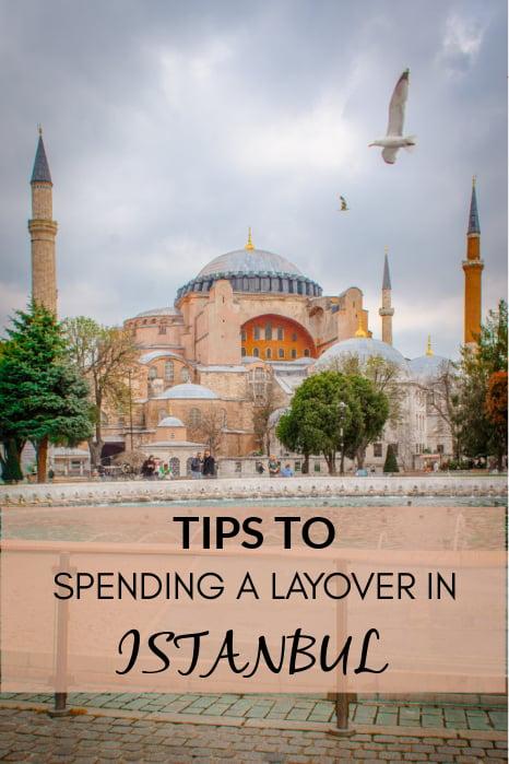 Istanbul layover pinterest image