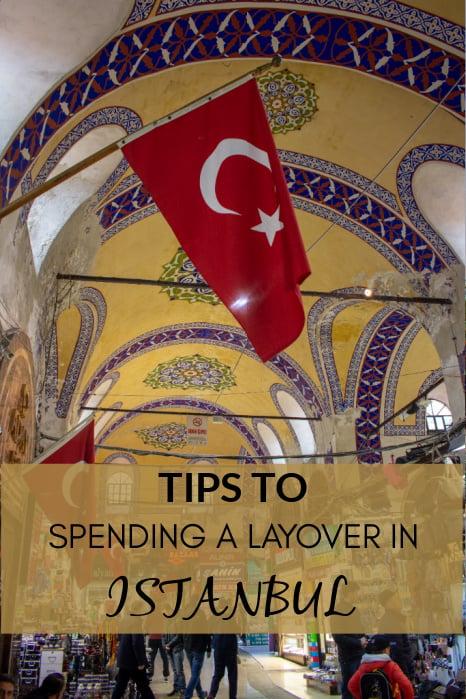 Istanbul layover in Turkey pinterest photo.