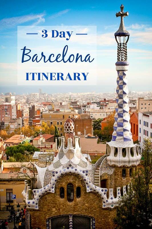 Long weekend in Barcelona pinterest image