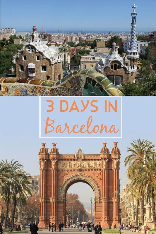 Long weekend in Barcelona pinterest pin photo