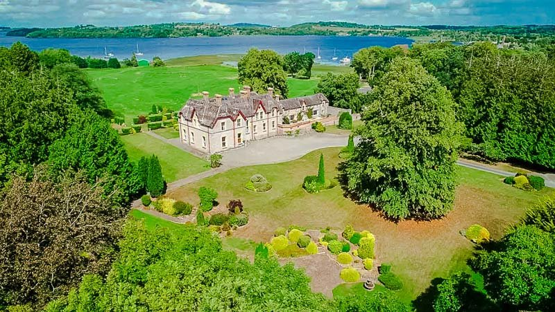 A grand estate in Ireland.