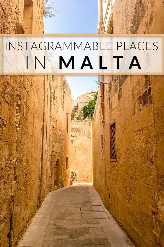Malta Instagram spots pinterest pin