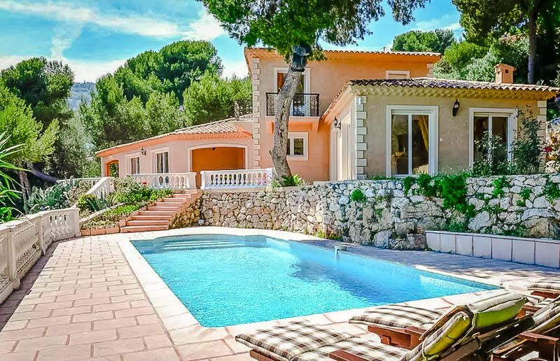 A luxurious villa on the French Riviera.