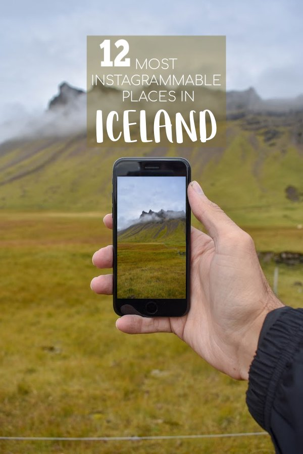 Most Instagrammable places in Iceland pinterest image.