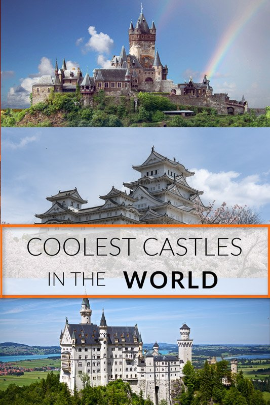 Most beautiful castles in the world pinterest image