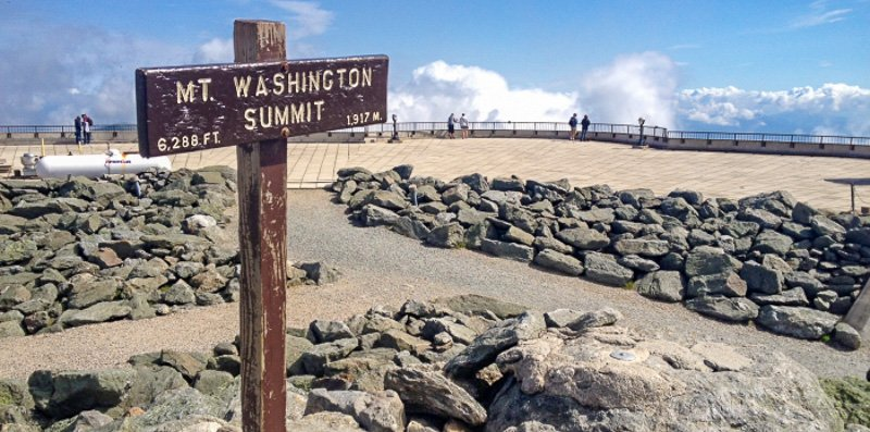 Mount Washington Summit in New Hampshire.