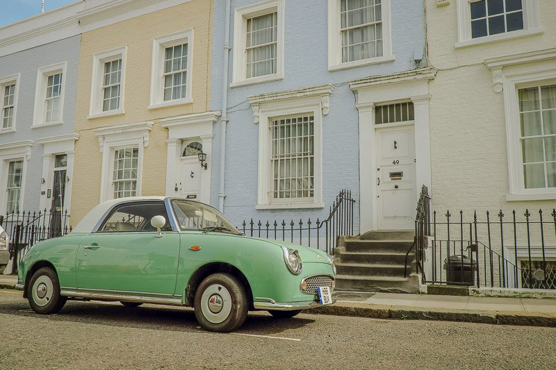 Notting Hill is one of the most Instagrammable places in England.