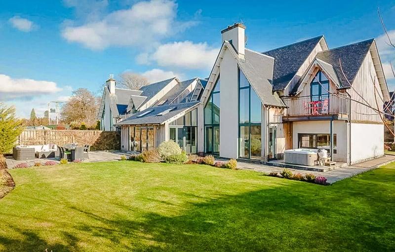 Elegant designer home in Scotland.