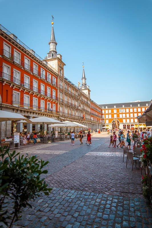 The Plaza Mayor is a large square with a lot of character.