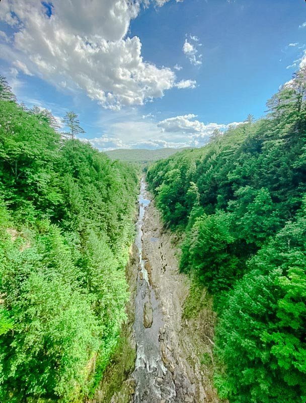 Quechee Gorge in Vermont is among the best hikes in New England.