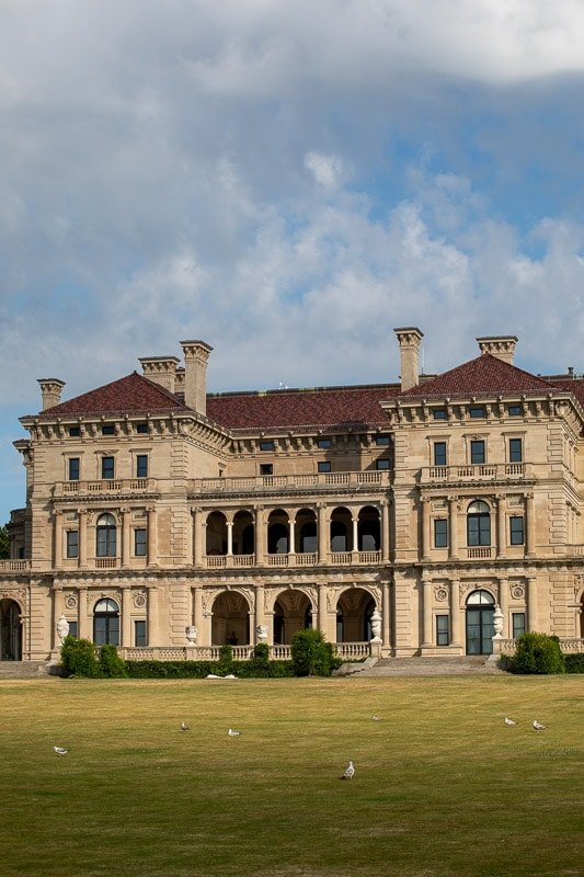 The Breakers Mansion from the Cliff Walk.