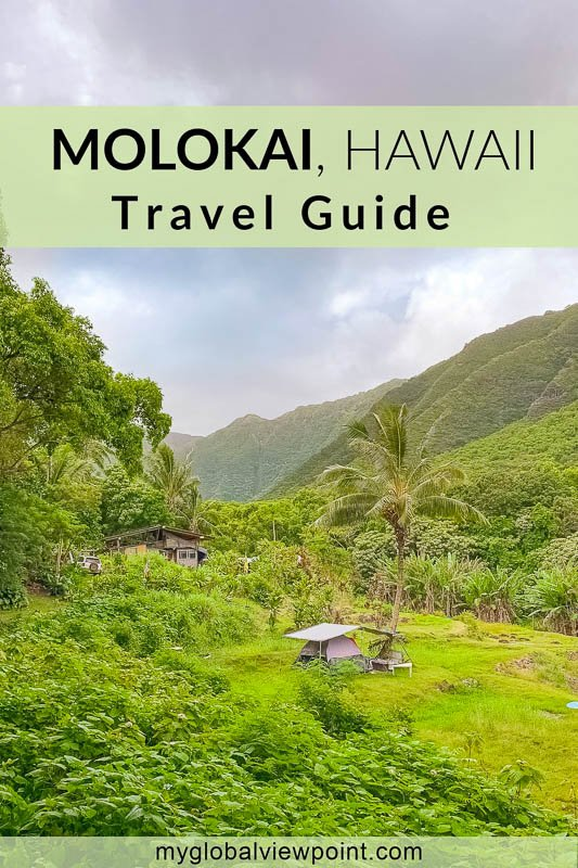 Things to do in Molokai pinterest image