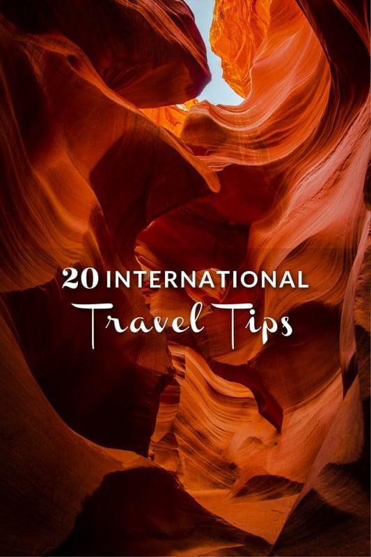 Top tips on international travel pinterest photo pin.