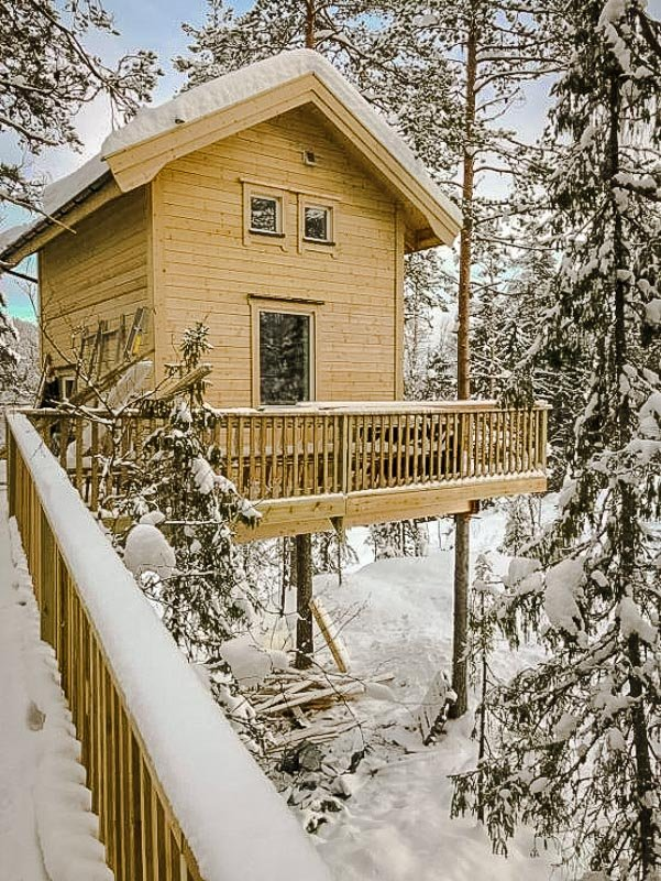 Treehouse in Norway.