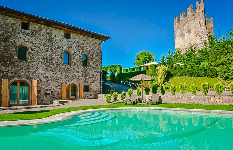 A castle Airbnb in Italy.