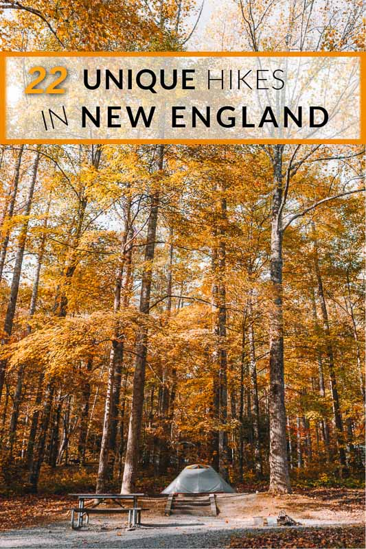 Unique hikes in New England pinterest image