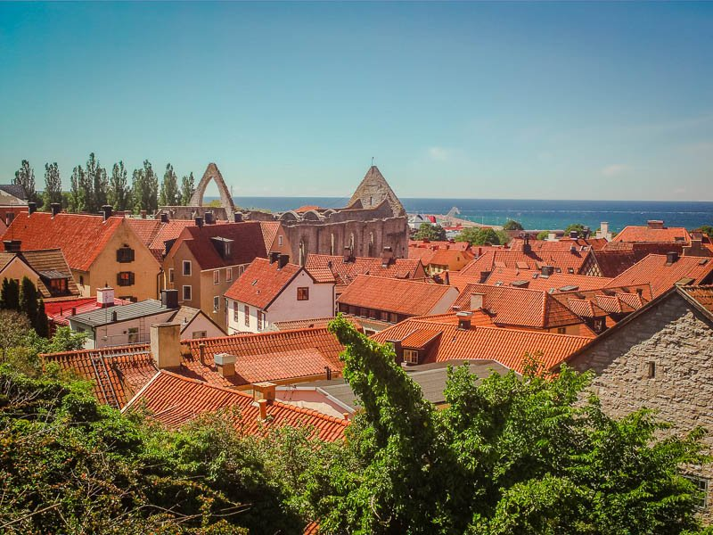 Visby is a colorful coastal town that's among the best hidden gems in Europe